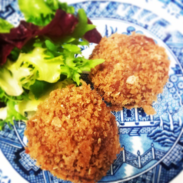 Fried Tofu balls with lemongrass and kafir lime