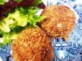 Fried Tofu balls with lemongrass and kafir lime